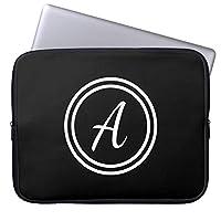 Recaso(レカソ)黒く 白くカスタム モノグラム ラップトップスリーブ ラップトップバッグ 14/14.4インチ スリーブ ノートパソコンバッグ 防水 PCブリーフケース 保護用スリーブカバー