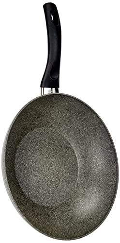 Ballarini Cortina Granitium Wok 1/M, Alluminio, Grigio, 28 cm