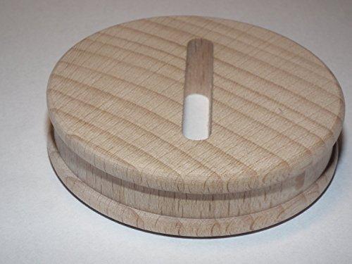 5 x Sparstrumpfscheibe aus Buche mit Schlitz Holzscheibe 5,8 cm Durchmesser