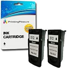 2 Negro Cartuchos de Tinta compatibles para Canon Pixma MP230 MP240 MP250 MP252 MP260 MP270 MP280 MP492 MP495 MP499 iP2700 MX320 MX330 MX340 MX350 MX360 MX410 MX420 | Reemplazo para PG-512 (PG512)