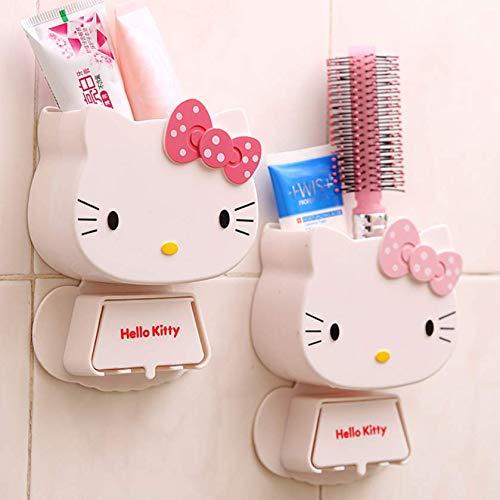 N/P AOLIAY Zahnbürstenhalter Aufbewahrungsbox Zahnbürste Zahnpasta Reiniger Aufbewahrungsbox Ein Stück zufällige Farbe