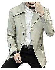 コート メンズ トレンチコート アウター コート 春秋冬 スタイリッシュ ボタン 綿 シンプル トレンチコート カジュアル ビジネス コート 黑 4XL