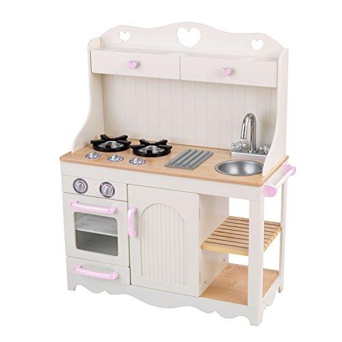 KidKraft 53151 Prairie Prärie-Spielküche aus Holz in Weiß Landhaus Kinderküche - 3