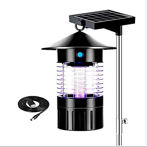 LGFB Solarladung Moskito-Killer wasserdicht 50-100square Solar-Stromversorgung LED-Beleuchtung geeignet für Villa Park Garten Gemeinschaft Camping