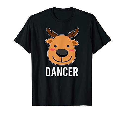 Santa Reindeer Dancer Xmas Group Costume T-Shirt