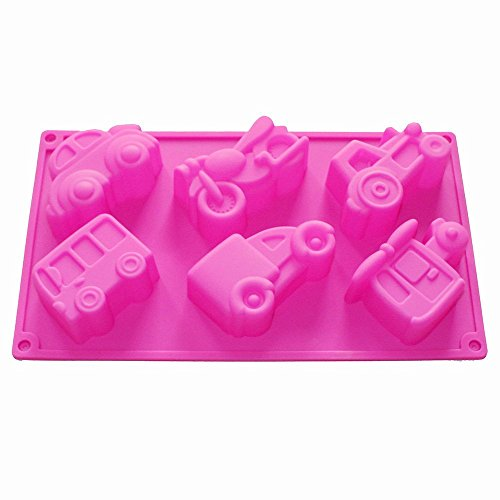 Homedmade Chocolate Soap Candle Crayon Cookies Plaster DIY Silicone Mold Pan Tray Kids Fun Maker (Vehicles Car)