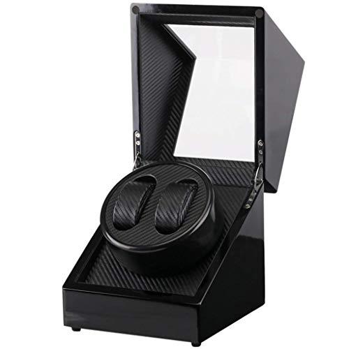 NZDY Uhrenbeweger Uhrenbeweger Boxen Automatik 2+0 Uhrenbeweger High-End Uhrenbox Plattenspieler Mechanische Uhr Schwarze Aufbewahrungsbox Uhrenbox