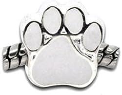 Dogs Stars Pfötchen weiß - Damen Bead - für Pandora Schmuck - European Bead