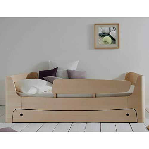 Alfred & Cie – Cama infantil 90 x 200 cm, con cajón y barrera recta