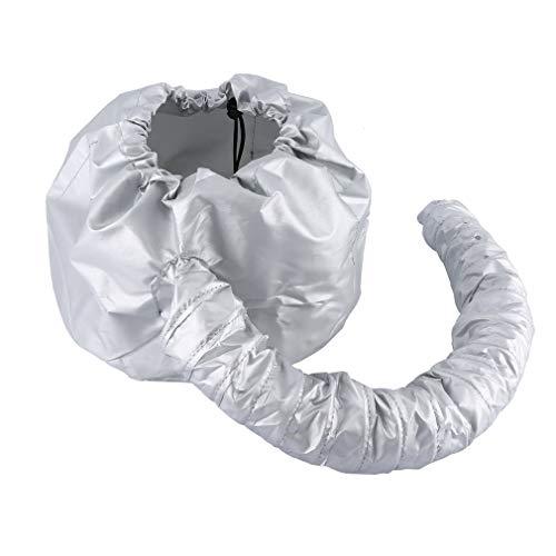 Bonnet Attachment für Haartrockner, Haartrockenhaube schwebehaube/Haartrockner Befestigung Verstellbar für Pflege Tiefenpflege (Grau)