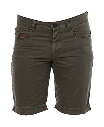 ALBERTO Herren Shorts Pipe-K Soft Cotton 4567-1706-680 Military Garment Dyed Regular Slim fit (33W)