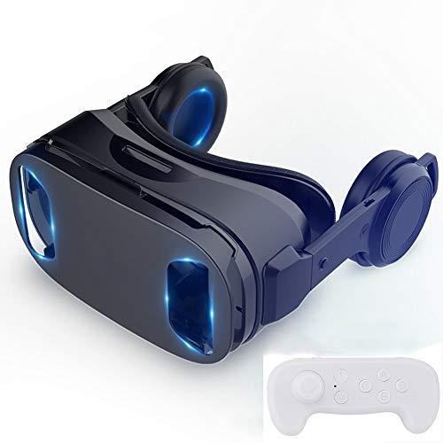 CYLZRCl Nuevas Gafas VR Casco Inteligente Todo en uno BLU-Ray Vista panorámica de 120 ° VR Gafas de Realidad Virtual 3D Compatible con teléfonos Inteligentes de 4.5-6 Pulgadas (Color : VR2)