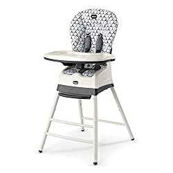 A high chair by Chicco.
