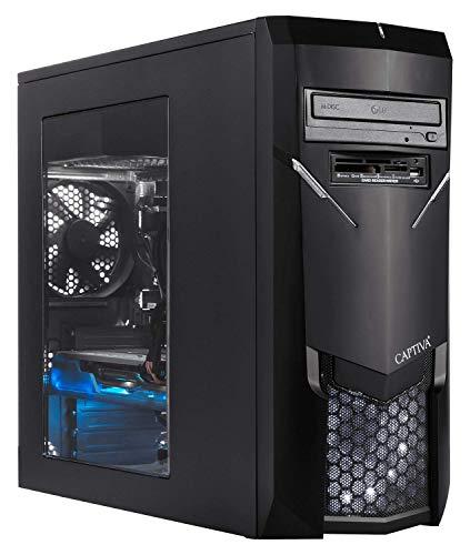 Captiva Advanced Gaming I54-801 Gaming PC | Intel Core i5-9400F | Radeon RX 5600 XT 6GB | 16GB DDR4 RAM | SSD 1TB M.2 | Luftkühlung | LED Lüfter | ohne Betriebssystem | PC Spiele