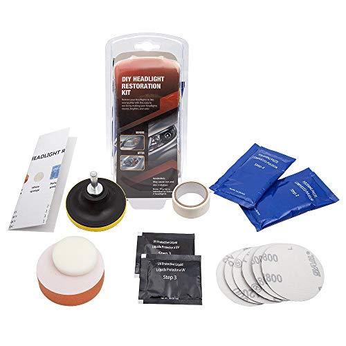Mookis Scheinwerfer Aufbereitung Set DIY Vehicle Headlight Restoration Kit Scheinwerfer Klarsicht-Set Headlight Restore with UV Protection