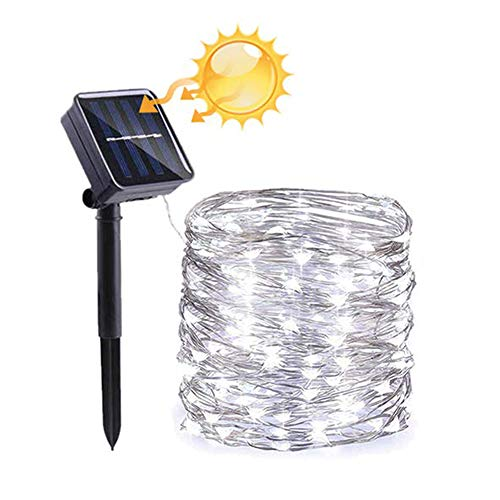FULLBELL Solar Power String Lights,Fariy Lights 66ft 200LED Christmas Decorative Lights IP65 Waterproof String for Indoor/Outdoor for Gardens, Patios, Homes, Parties