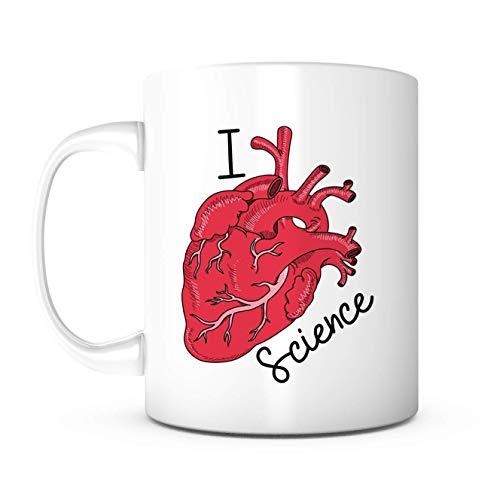 WTOMUG I Heart Science Mug-Science Teacher,Gifts For Students,Fun Teacher Gifts,Teacher Gifts For Men,Science Gifts,Retiring Teacher Gifts For Women,T.