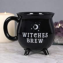 Witches Brew Cauldron Black Mug Novelty 10cm Tea Coffee Soup Cup Gift Boxed