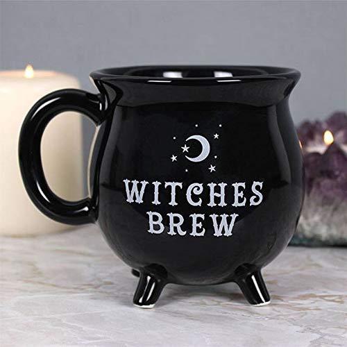 """Tasse mit Aufschrift """"Witches Brew Cauldron"""", Schwarz, 10 cm, in Geschenkverpackung"""