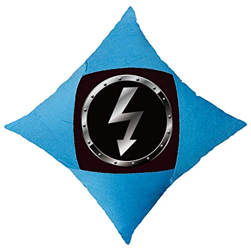 OFFbb-USA - Funda de cojín con logotipo de fondo negro y luz peligrosa para cama de coche