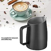 味のない再利用可能なコーヒーカップミルク泡立て器のコーヒーコーヒーの無毒なステンレス鋼のカップキッチンのレストラン(black)
