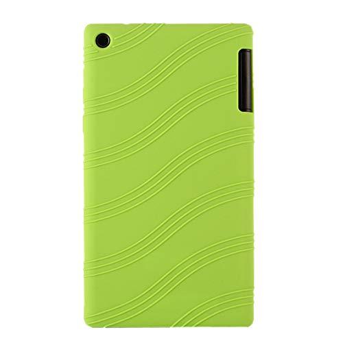 Oneyijun Verde Suave Silicona Piel Bolsa Proteccion Caso Protector Cubrir Funda para Lenovo Tab 2 A7-30TC 7.0 Pulgadas Tableta