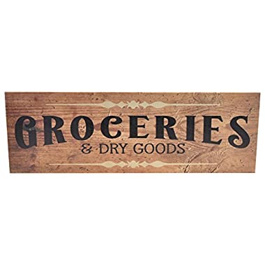 Groceries Wood Wall Sign 6x18