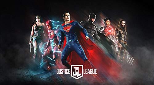 AASSS Justice League poster,5D Diamante Pintura por Número Kit,Bricolaje Diamond Painting Rhinestone Bordado de Punto de Cruz Artes Manualidades Lienzo Pared Decoración(60x40cm Sin marco)