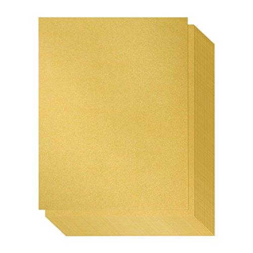 Shimmer Paper - 96 Pack-Gold Metallic Papier, dubbelzijdig, Laser Printer Friendly - Perfect voor bruiloften, baby douches, verjaardagen, Craft Use, Letter Size Sheets, 8.7 x 0.03 x 11 inches Goud