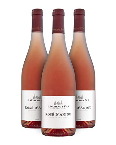 J. Moreau & Fils A.O.C. Rosé d'Anjou Vino Rosado - Valle del Loira, Francia - Pack de 3 Bot. 75 cl