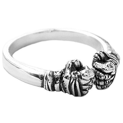 Helen de Lete Vintage Boxhandschuhe 925 Sterling Silber Ring