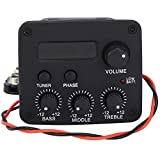3 Band EQ Pre-Amp Equalizer Pickup,Guitar EQ Equalizer Piezo Pickup System with LCD Screen Display for Guitar Accessory