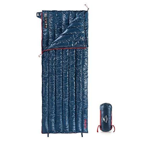 VBNM Saco de Dormir Tipo De sobre Ultraligero Saco De Dormir Goose Down Lazy Bag Saco De Dormir para Acampar 790 GAzul Oscuro
