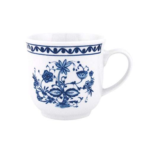Triptis-Porzellan Kaffeebecher Romantika Zwiebelmuster 300ml, 6er Pack