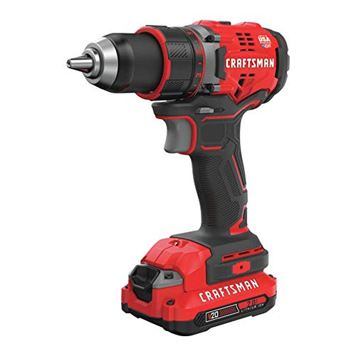 Craftsman CMCD720D2R 20V Brushless Lithium-Ion 1/2 in. Cordless Drill Driver Kit (2 Ah) (Renewed)