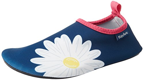 Playshoes Unisex-Kinder Badeslipper, Badeschuhe Margarite Aqua Schuhe, Blau (Marine), 20/21