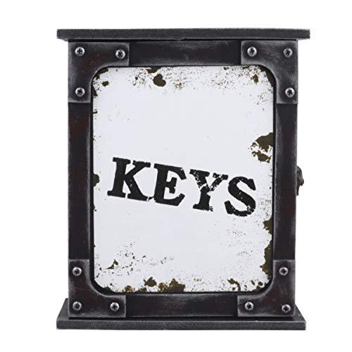 BESPORTBLE Holz Wandschlüssel Rack Rustikale Schlüssel Hängebox Dekorative Schlüsselhalter Veranstalter Taschen Kleiderhaken für zu Hause Wohnzimmer Schlafzimmer (Weiß)