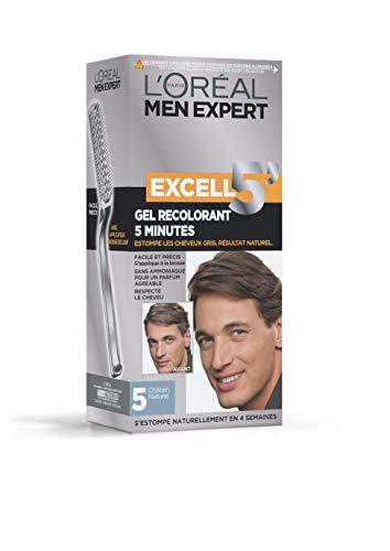 L'Oréal Men Expert Excell 5 Gel-Crème Recolorant pour Homme, Coloration des Cheveux Gris & Blancs,...