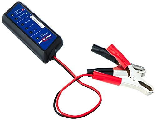 ANSMANN 4000002 Power Check Kfz-Batterietester / Professionelles Testgerät für 12V Autobatterien / Ideal für Autofahrer und Service-Werkstatt / Zur Überprüfung von Ladezustand & Batterie-Belastbarkeit