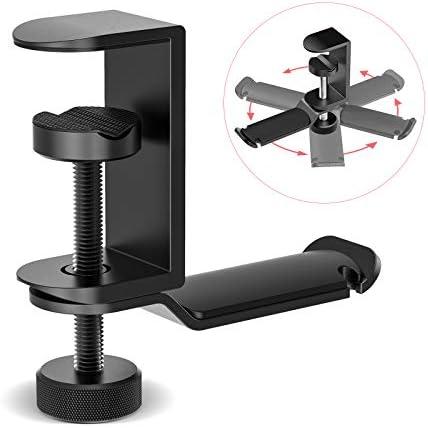 APPHOME Headphone Stand Hanger Under Desk 360 Degree Rotating PC Gaming Headset Holder Aluminum product image