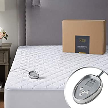 Premium Mattress Heating Pad Twin Size 39×75 inch | Quilted Cotton Electrical Mattress Pad with 20 Heat Setting…
