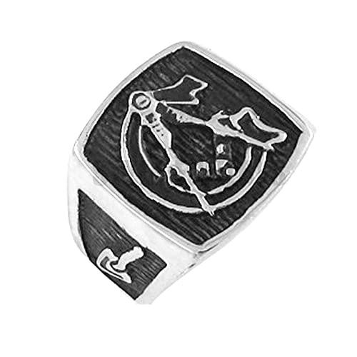 Cruz De Acero Inoxidable Para Hombre Anillo Masónico Clásico Joyería De Acero Inoxidable Símbolo De La Masonería Motor Masónico Motorista Hombres Punk Rock Locomotora Creencia Religiosa Anillo8