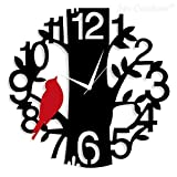 Colour: MULTICOLOR , Character : Bird Non-ticking wall clock: Super-quality quartz sweep movement guarantees accurate time and absolutely silent environment Ideal for small living room, bedroom, kitchen & offices Dimensions (L x B x H): 30 cm x 30 cm...