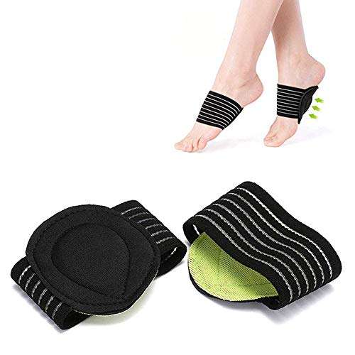DaricowathX 2 Pairs Cushioned Compression Arch Support,Fallen Arch Support Heel Spurs Plantar Fasciitis Foot pad&Orthotic Insoles&Socks Padded Comfort for Plantar Fasciitis