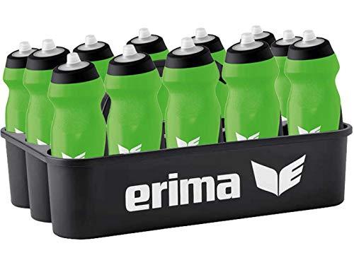 Sport-Kanze Erima Flaschenträger/Flaschenhalter inkl. 12 Trinkflaschen grün