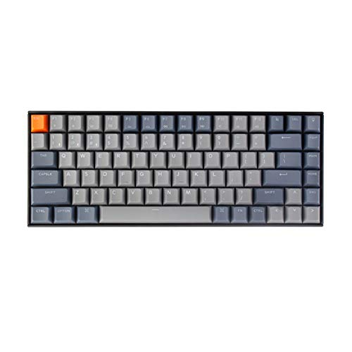 Keychron K2 Bluetooth Wireless Mechanical Keyboard with Double Shot PBT Keycaps/Gateron Blue Switch/White LED Backlit/Anti Ghosting/N-Key Rollover, 84 Key Tenkeyless Keyboard for Mac Windows