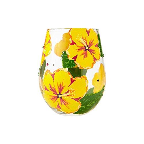 Lolita Hibiscus Stemless Glass