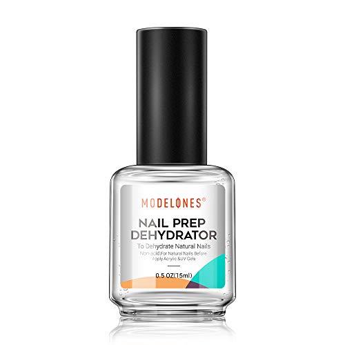 Nail Prep Dehydrator, Bonding Primer for Gel Polish Acrylic Powder, Nails Protein Bond Acid-Free Fast Air-Dry, Base Varnish Manicure Bonder Liquid 0.5oz
