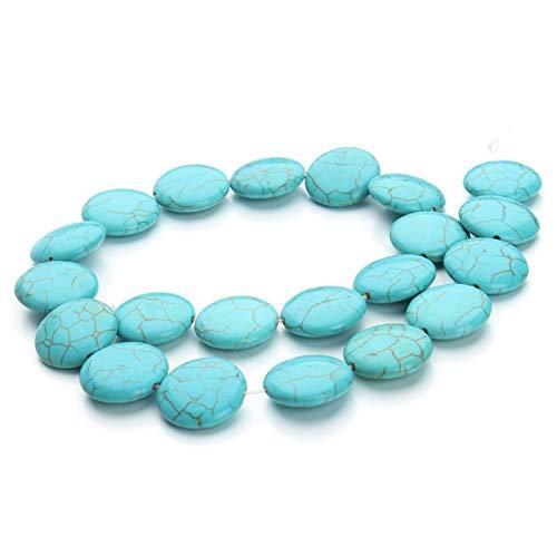 ABCBCA 18 unids/Pack Dia Dia 2 CM Azul Redonda CRICT CREACIONE COTRADA JOYERA Haciendo Fabricación de Cuentas Collar DIY Piedras Naturales Beading (Color : Blue)