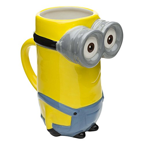 Zak Designs Coffee Mugs, Sculpted, Minion Movie Kevin